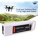 Q500 Flight Battery,3S 5400mAh 11.1V LiPO Battery with Charging Protection Function for Yuneec Typhoon Q500 Q500+ Typhoon 4K Typhoon G RC Quadcopter and Q500 Gopro Multicopter Drone