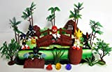 SONIC and Friends Deluxe Game Scene Birthday Party Cake Topper Featuring Sonic Figures and Decorative Themed Accessories