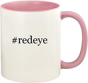 #redeye - 11oz Hashtag Ceramic Colored Handle and Inside Coffee Mug Cup, Pink