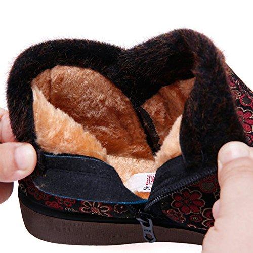 Chaussures Des Mère KHSKX En Antidérapantes Hiver Mère Grand La Chaussures gules Chaud Chaussures Femmes Taille Au pqxwv8Cq