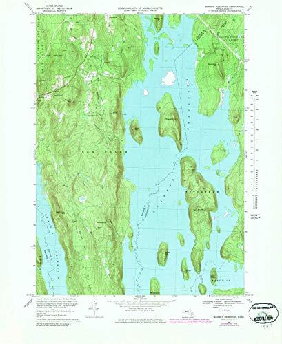 YellowMaps Quabbin Reservoir MA topo map, 1:25000 Scale, 7.5 X 7.5 on