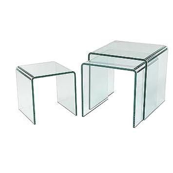 Asti Bent Glass Nest Of Tables
