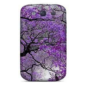 Pretty BylJvIK8806kuBnE Galaxy S3 Case Cover/ Purple Autumn Series High Quality Case