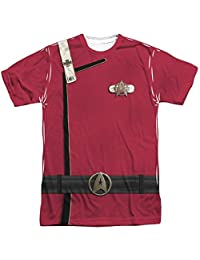 Star Trek Movie Series Admiral Kirk Uniform Adult Front/Back Print T-Shirt