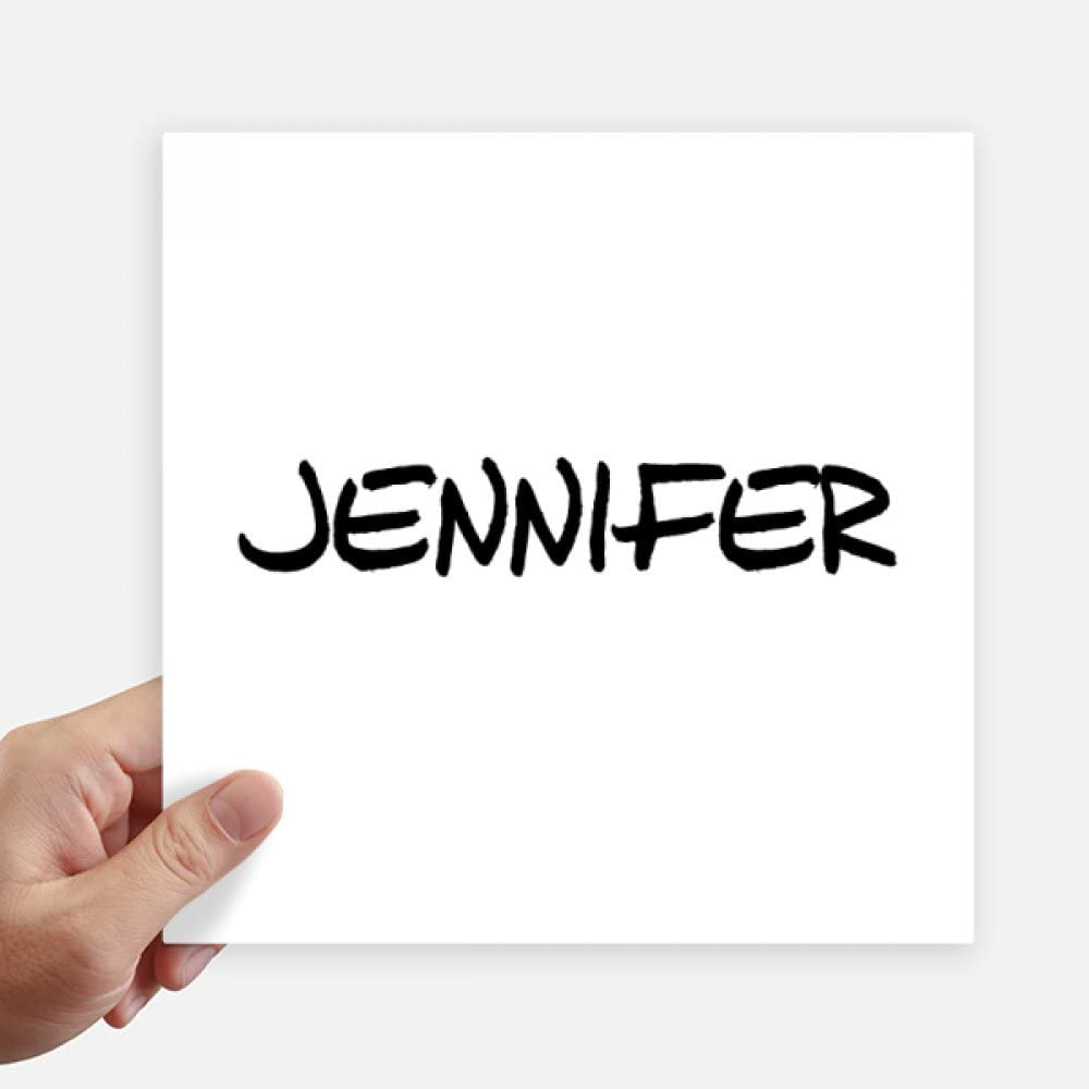 DIYthinker Special Handwriting English Name Jennifer Sticker Tags Wall Picture Laptop Decal Self Adhesive