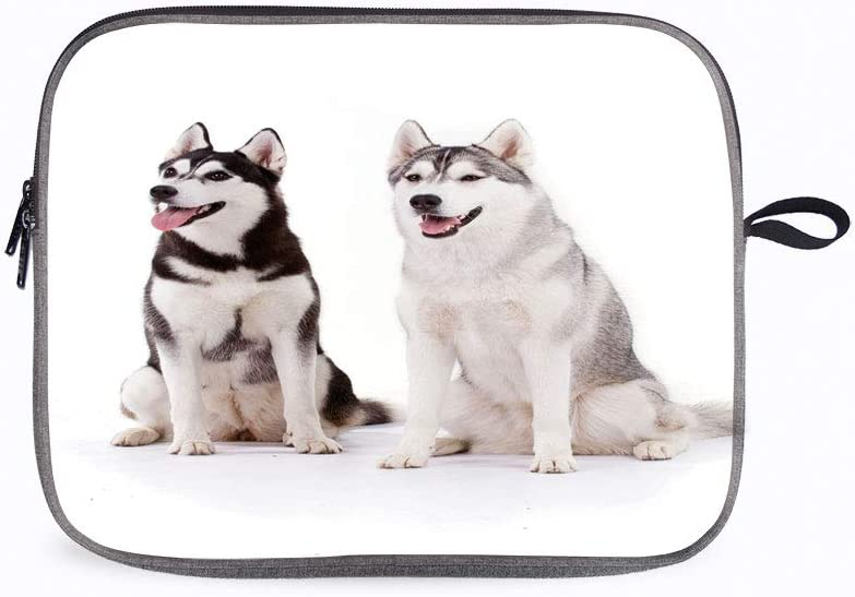 """Alaskan Malamute Furry Whelp 13"""" Laptop Sleeve Case Compatible with 20 18 MacBook Air 13 A 1932/Surf"""