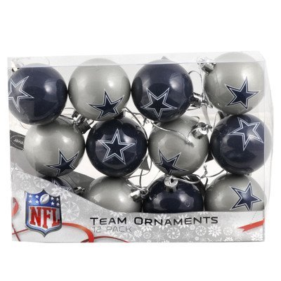 NFL Ball Ornament (Set of 12) NFL Team: Dallas Cowboys