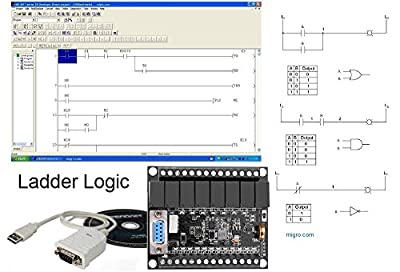 PLC Professional Study Course Starter Kit Ladder Logic Software & Controller 20 I/O, 24V, USB interface