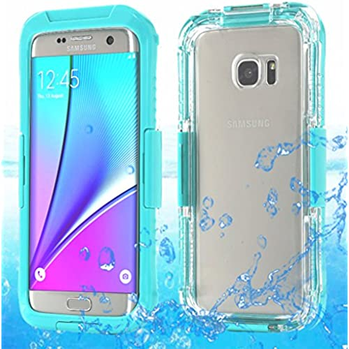Galaxy S7 Edge Waterproof Case, AICase Armor Defender Dust proof Shockproof Snow Proof Case Crystal Clear Full Sales