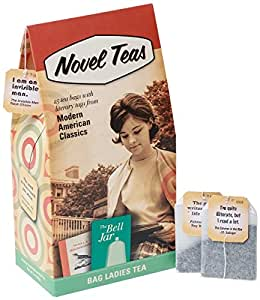 Novel Teas - Modern American Classics contains 25 teabags individually tagged with literary quotes from the world over, made with the finest English Breakfast tea.