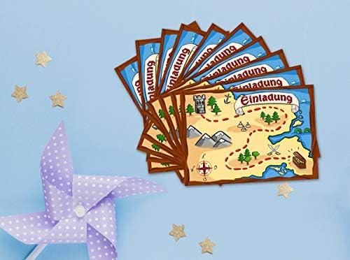 12 tarjetas de invitación para cumpleaños infantiles