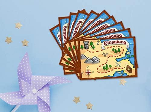 12 Tarjetas De Invitación Para Cumpleaños Infantiles Pirata