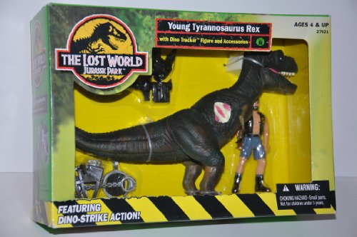 JURASSIC PARK - THE LOST WORLD - YOUNG TYRANNOSAURUS REX w/ Dino Tracker figure & accessories!