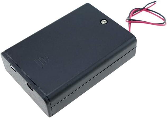 BeMatik - Portapilas en Caja para 3 Pilas LR6 AA 1.5V con Interruptor: Amazon.es: Electrónica