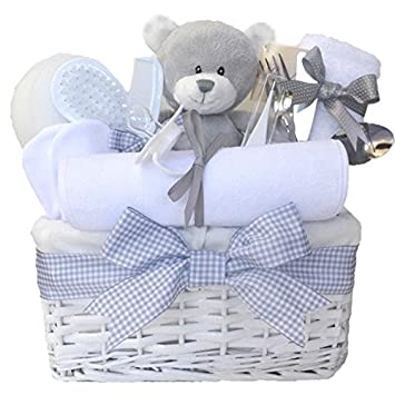 Shimmer wicker unisex baby gift basket baby hamper baby shower shimmer wicker unisex baby gift basket baby hamper baby shower gifts new arrival negle Image collections