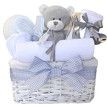 Shimmer Wicker Unisex Baby Gift Basket / Baby Hamper / Baby Shower Gifts /  New Arrival