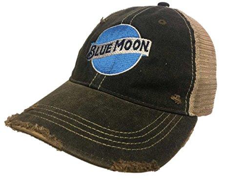 (Blue Moon Brewing Company Retro Brand Vintage Mesh Beer Charcoal Adj Hat Cap)