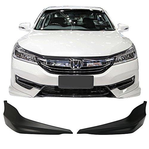 Front Bumper Lip Spoiler Fits 2017 Honda Accord | HFP Style Black PP Lip Spoiler Bodykit Diffuser Air Dam Chin Diffuser by IKON MOTORSPORTS