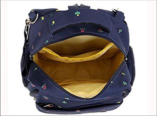 Mummy mochila, multi-funcional de gran capacidad de las mujeres embarazadas que se producen paquete, materna y el niño hombros bolsa, la mano bolsa de la madre ( Color : Blue flowers ) Blue dots