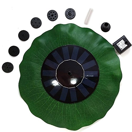 72' Pond (Coohole Floating Bird Bath Solar Power Fountain Garden Water Panel Pump Kit Pool Pond, Black)