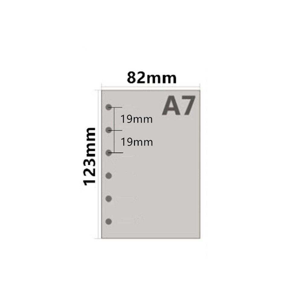 tasca interna per notebook Binder ricariche 12,3/x 8,2/cm Harphia Cornell. A7/refill Planner refill