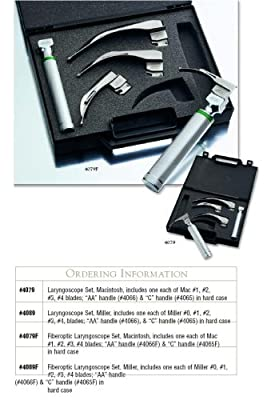 ADC Laryngoscope Kit with disposable blades