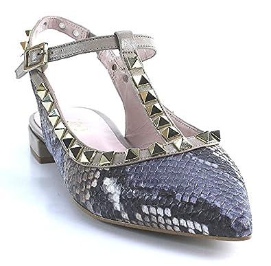 quality design 7d97c 96d2e Lodi Bea   Sling Ballerina   Snake   grau: Amazon.de: Schuhe ...