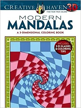Amazon Creative Haven 3 D Modern Mandalas Coloring Book Adult 0800759790876 Randall McVey Books