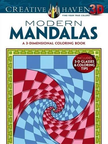 Creative Haven 3-D Modern Mandalas Coloring Book (Adult Coloring)