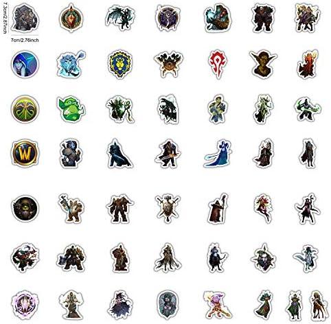 BLOUR World of Warcraft Tribal Hero Reflektierende Autoaufkleber und Aufkleber 50pcs