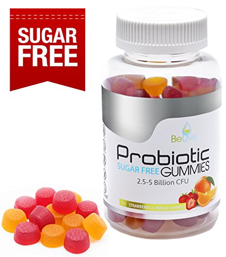 Probiotics Sugar-Free Gummies Supplement for Digestive Health & Immunity | Most Optimal Probiotic with 5 Billion CFU for Women, Men and Kids | 100% Natural & Vegan | GMO-Free. 90 Count