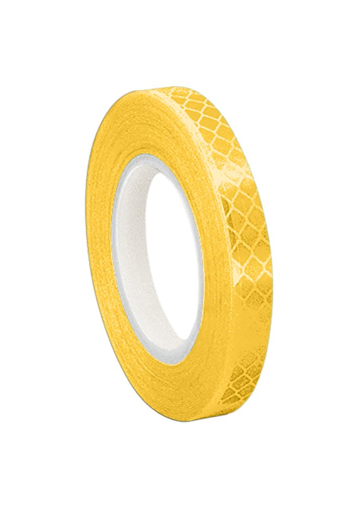 TapeCase 0.125-5-3431 Yellow Micro Prismatic Sheeting Reflective Tape Converted from 3M 3431, 0.125' x 5 yd 0.125 x 5 yd