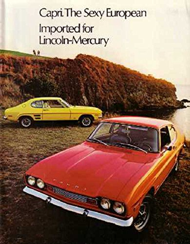 1972 Mercury Capri Sales Brochure Literature Book Piece Advertisement ()