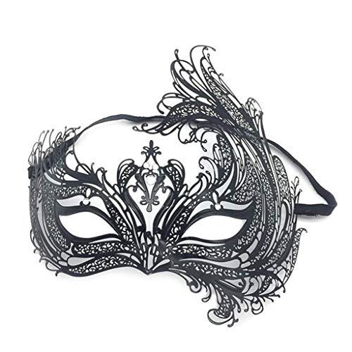 Wetietir Festival Mask Metal Diamond Face Masquerade Mask