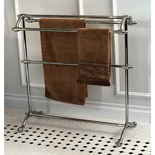 (Kingston Brass Vintage Pedestal Chrome-Finished Solid-Brass Towel Stand)