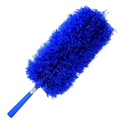 CleansGreen Microfiber Feather Dusters for Cleaning: Extendable, Reusable, Bendable, Screw Head on Your Pole | Dusting/Cleaning Car, Blinds, Cobweb | No Swiffer Refills or Dusters Replacement Required (Lamp Venetian Wall)