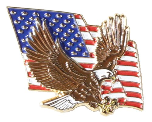 Hattricks Goodimpression tm American Flag 3D Bald Eagle Lapel Pin