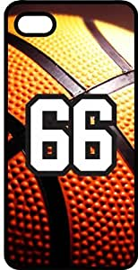 Basketball Sports Fan Player Number 66 Black Plastic Decorative iphone 6 4.7 Case