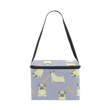 COOSUN Pugs bolsa de almuerzo con aislante para meditación ...
