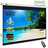 """100"""" inch Electric Motorised Projector Screen with Remote Control 16:9 Native Screen"""