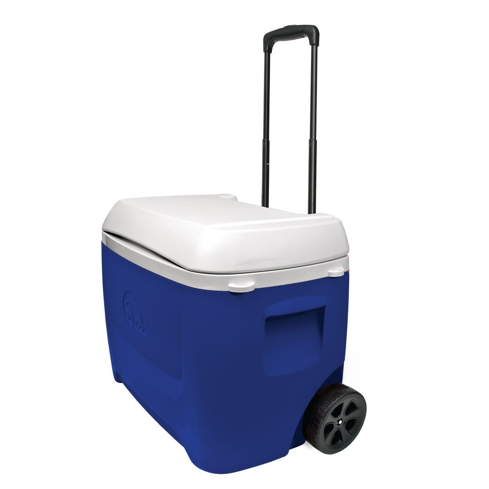 Nevera portátil Igloo helados Island Breeze 60 QT Roller azul 45813
