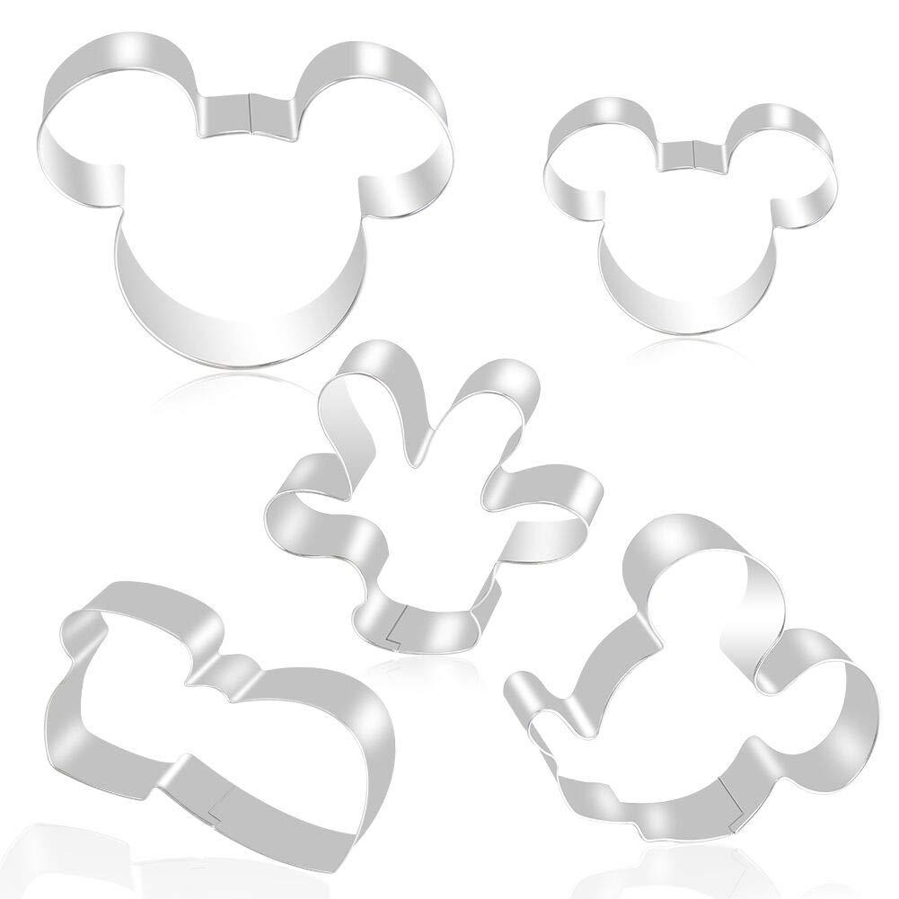 FHzytg 5 Unidades Mickey Mouse Moldes Moldes para niños - Cabeza de Mickey, Mickeys Mano, Mickeys Guantes, Mickey Mouse Superficie Lateral, Grande Mickey ...