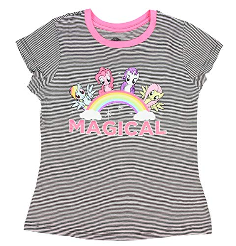 My Little Pony Big Girls' Magical Striped Ringer T-Shirt (X-Large) -