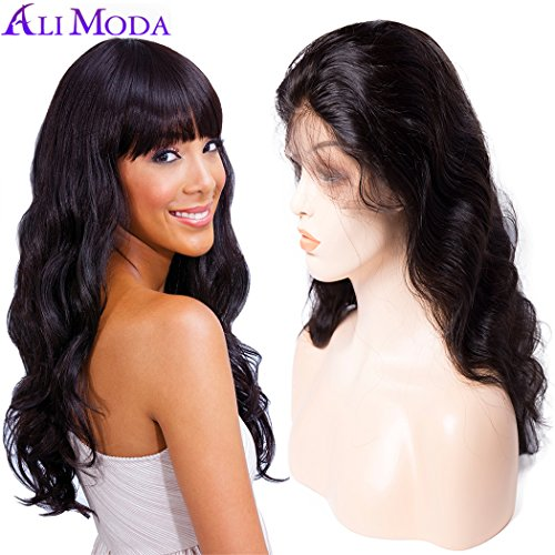 Ali Moda 360 Body Wave Lace Front Wig 150% Density Malaysian Pre Plucked With Baby Hair Bleached Knots Cap Wigs Human Virgin Hair Nature Hairline 24 inch by ALI MODA
