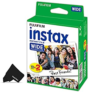 FujiFilm Instax Wide Instant Film Pack of 20 Photo Sheets - Compatible with FujiFilm Instax Wide 300, 210 and 200 Instant Cameras