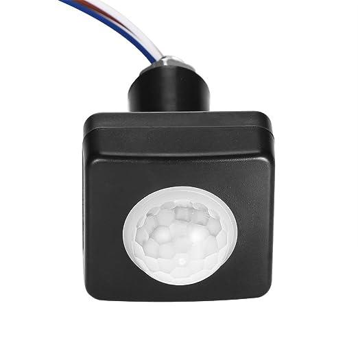 ONEVER Interruptor infrarrojo del cuerpo del sensor de movimiento PIR sensor de iluminacišn Detector de pared exterior de la acera interruptor infrarrojo ...
