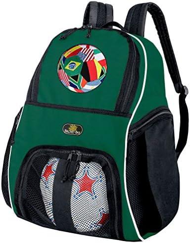 サッカーバックパックまたはバレーボールバッググリーン