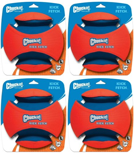 Chuckit Kick Fetch Toy Ball for Dogs, Large 4pk