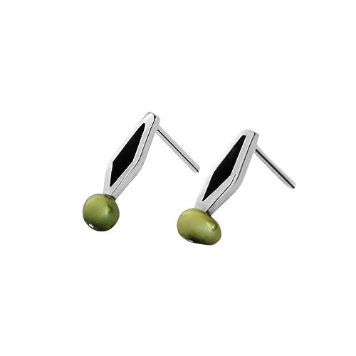 682c365ed394 Martha Vargas  Aretes de plata ley .925 colección olivos mini con madera y  perla