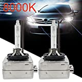 Car Light 1 Pair 8000K HID Xenon Headlight Bulbs Lamps D1S 35W 3200LM OEM Replacement for Philips OSRAM Gessppo